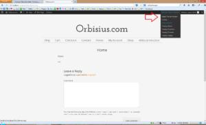 Orbisius Theme Switcher in action