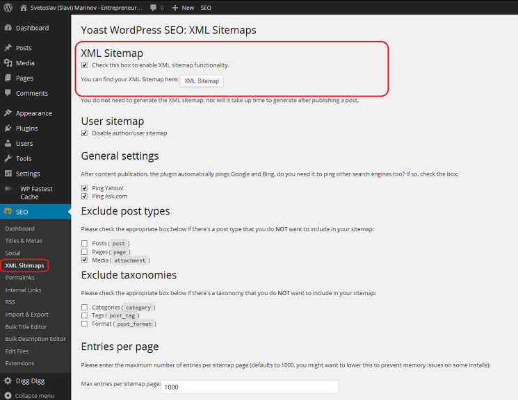 How to Activate or Deactivate Sitemap XML in WordPress SEO by Yoast