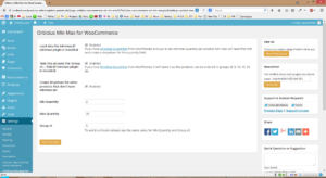 Orbisius Min Max for WooCommerce Settings