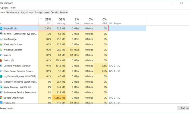 How to Fix Skype's High CPU/Processor Usage in Windows 10