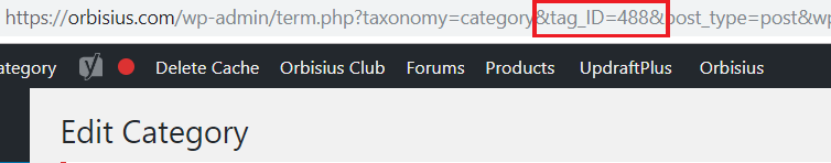 WordPress Category ID in URL