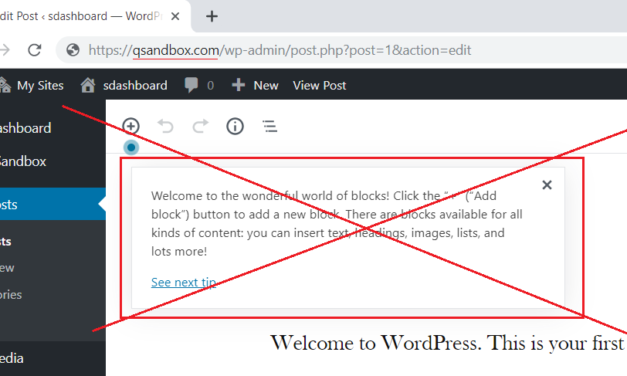 How to Disable Gutenberg Welcome Tips in WordPress